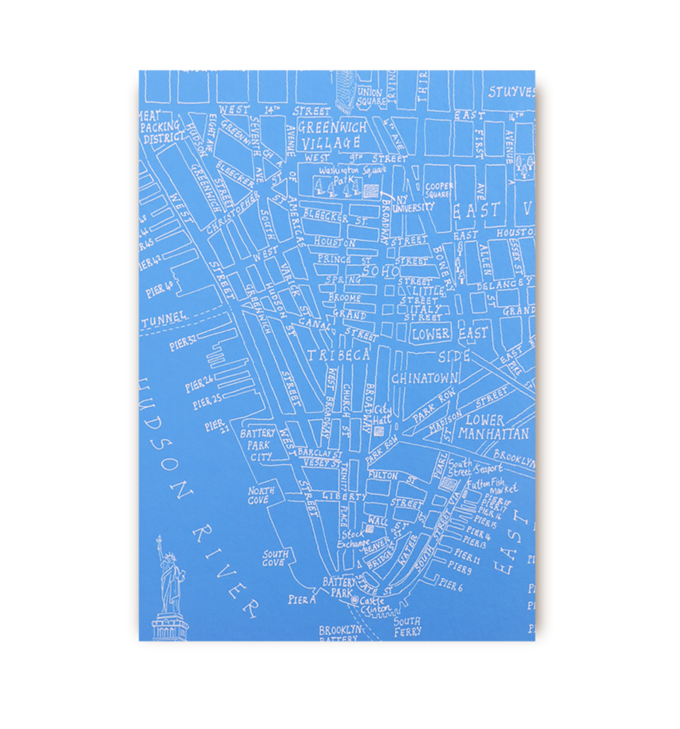 New York Map Postcard - Lagom Design