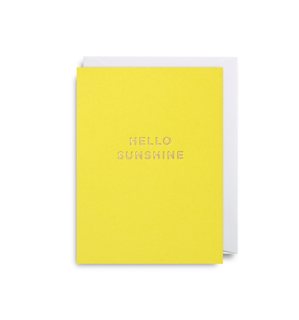 Hello Sunshine Mini Card - Lagom Design