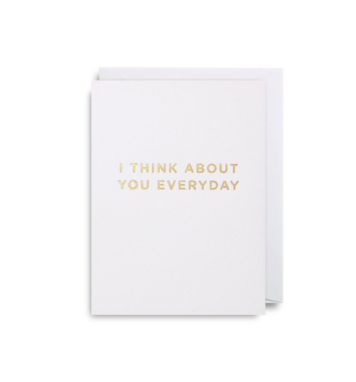 I Think About You Everyday Mini Card By Cherished Lagom Design