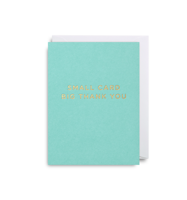 Small Card, Big Thank You - Lagom Design