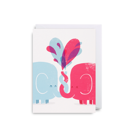 Elephant Love Mini Card