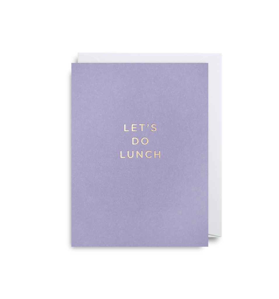 Let's Do Lunch Mini Card - Lagom Design