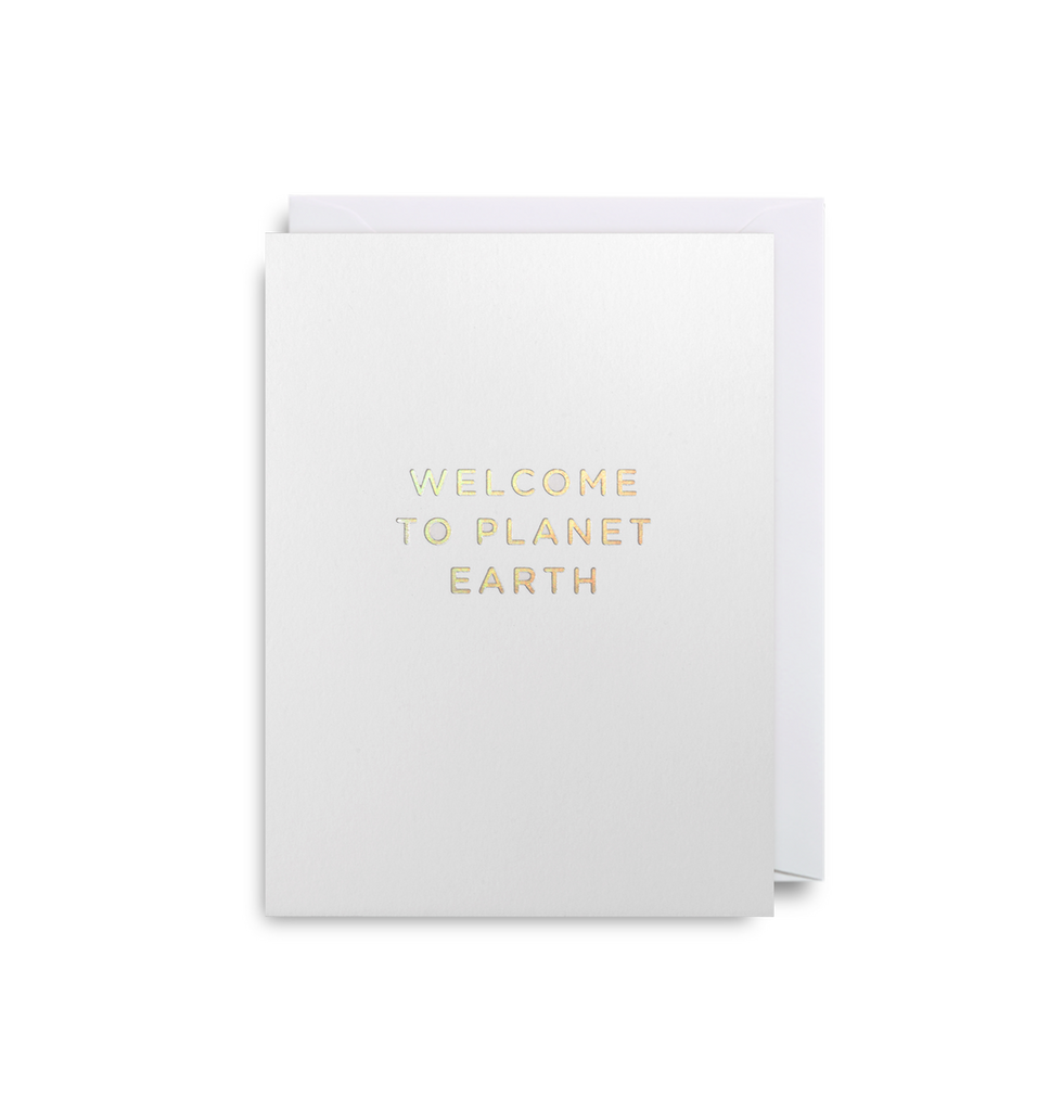 Welcome to Planet Earth Mini Card