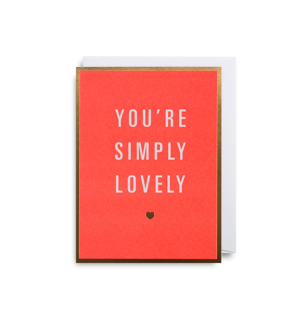 You're Simply Lovely Mini Card - Lagom Design