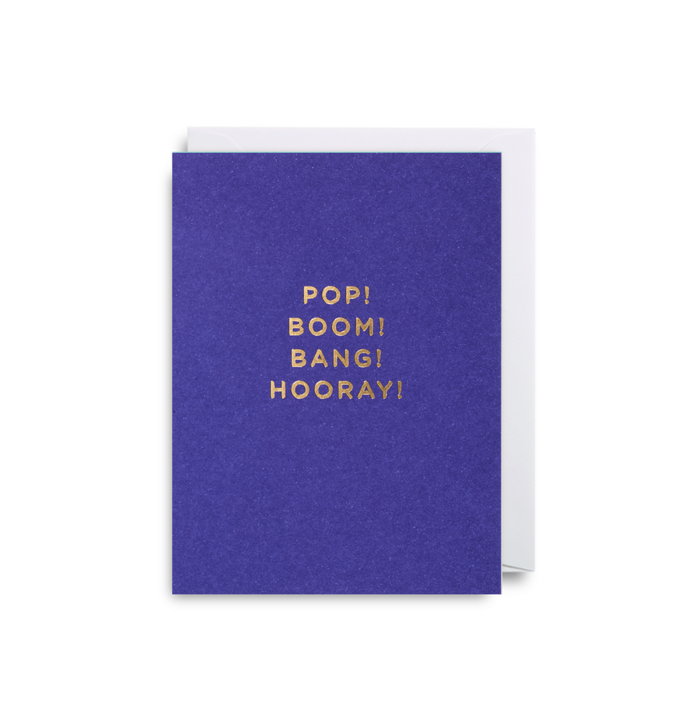 Pop! Boom! Bang! Hooray! Mini Card