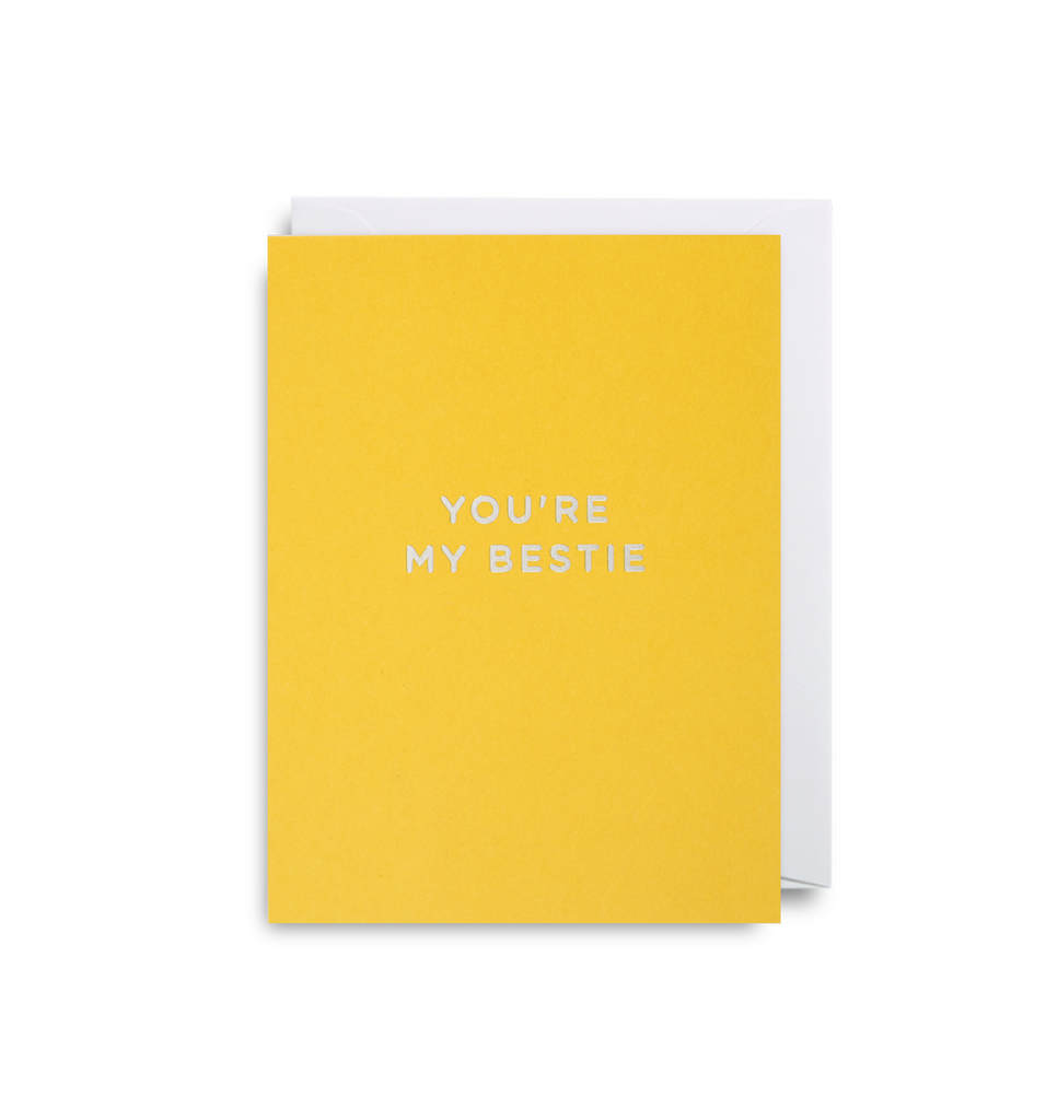You're My Bestie Mini Card - Lagom Design