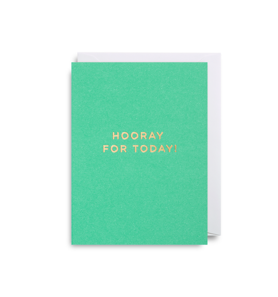 Hooray For Today Mini Card - Lagom Design