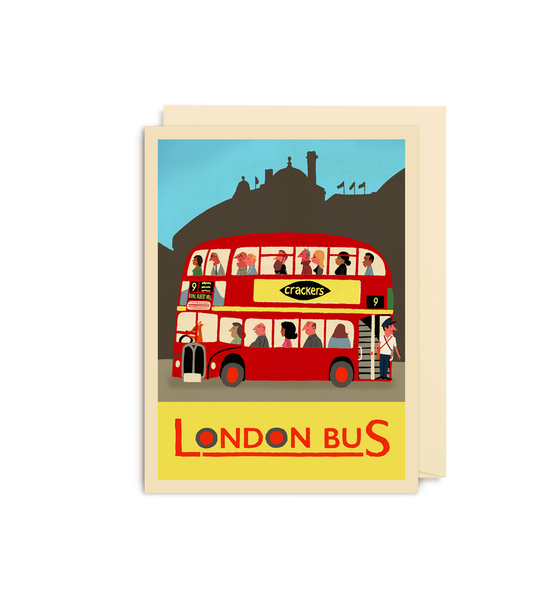 London Bus Mini Card - Lagom Design