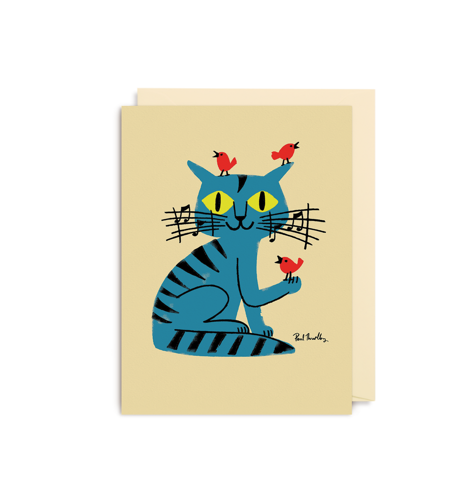 Musical Cat Mini Card