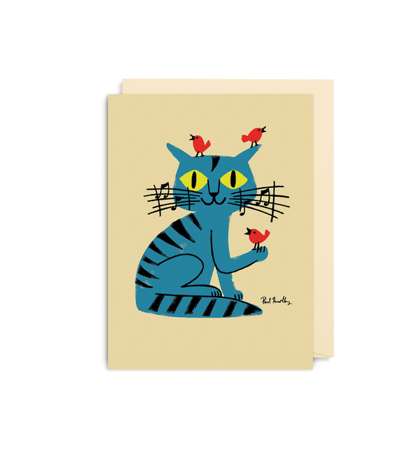 Musical Cat Mini Card - Lagom Design