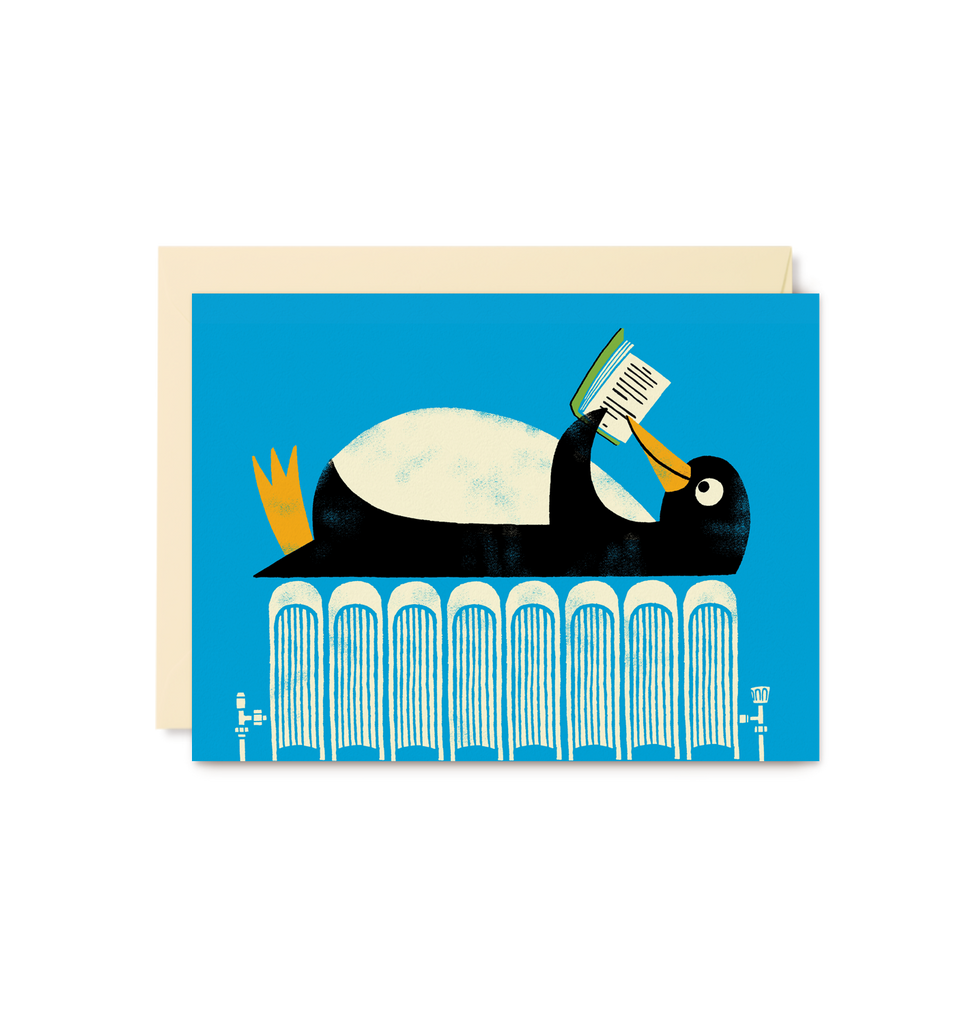 Reading Penguin Mini Card