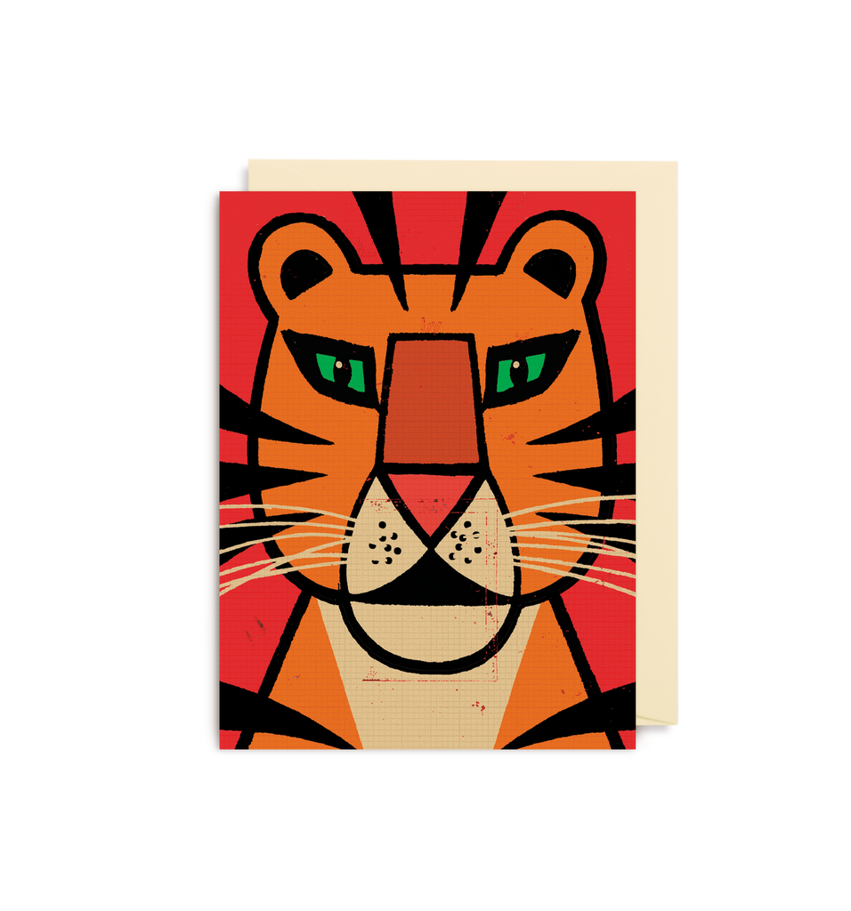 Lion Face Mini Card