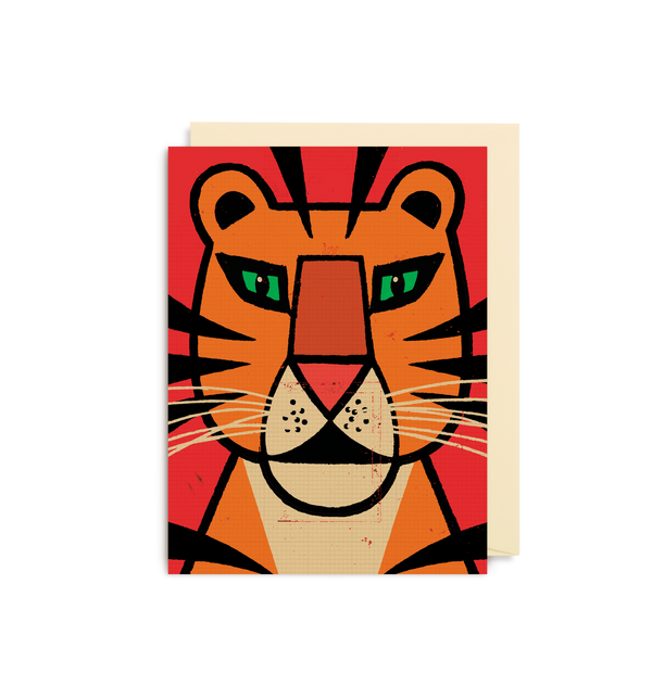Lion Face Mini Card - Lagom Design