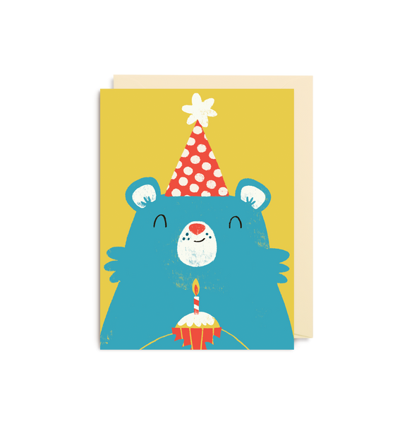 Birthday Bear Mini Card - Lagom Design