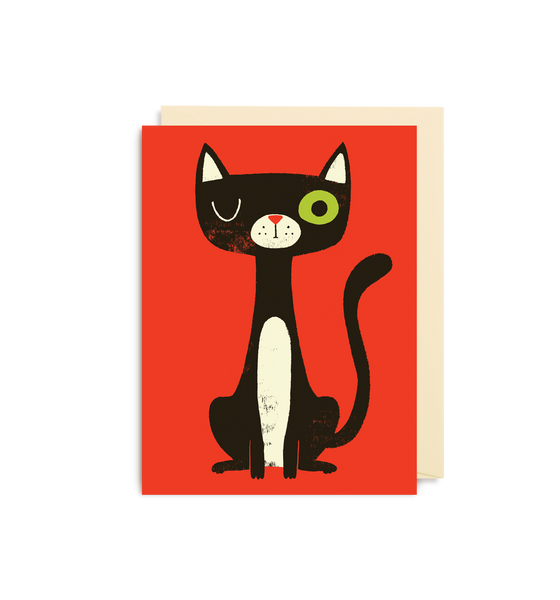 Black Cat Mini Card - Lagom Design