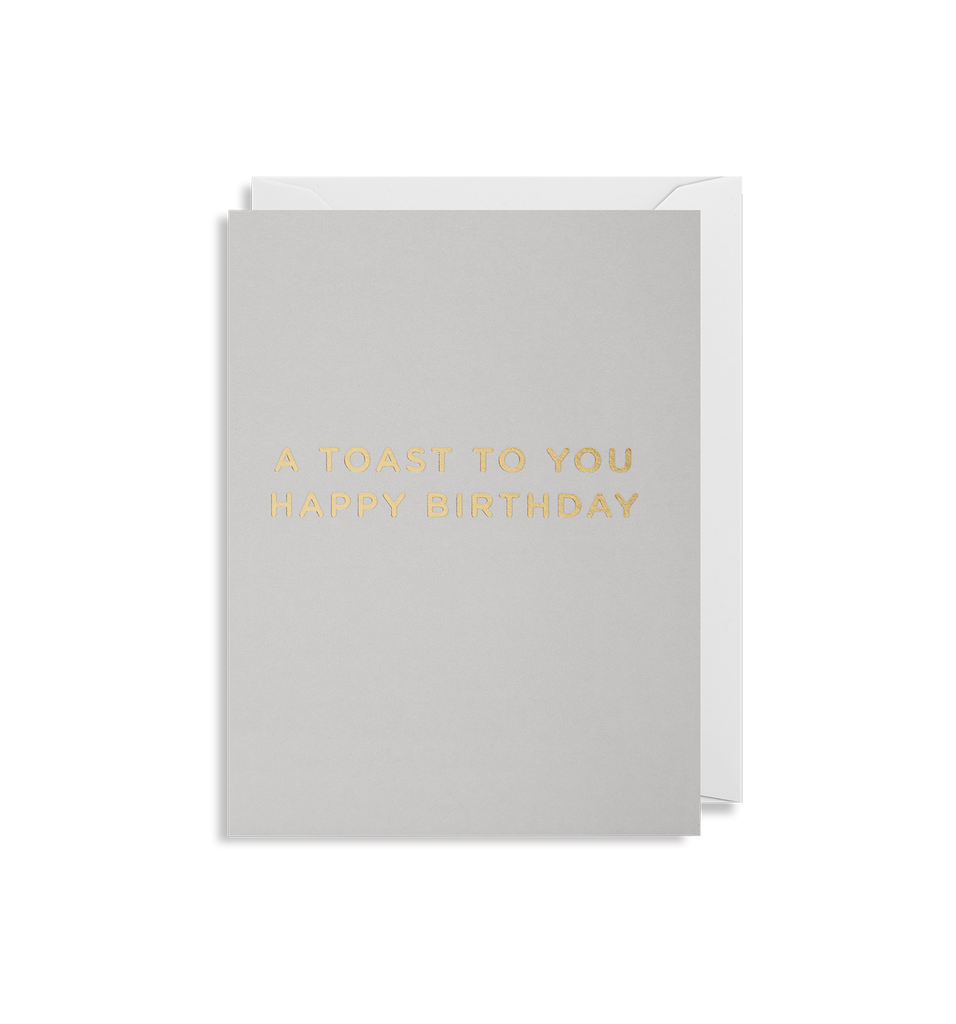A Toast To You Happy Birthday Mini Card - Lagom Design