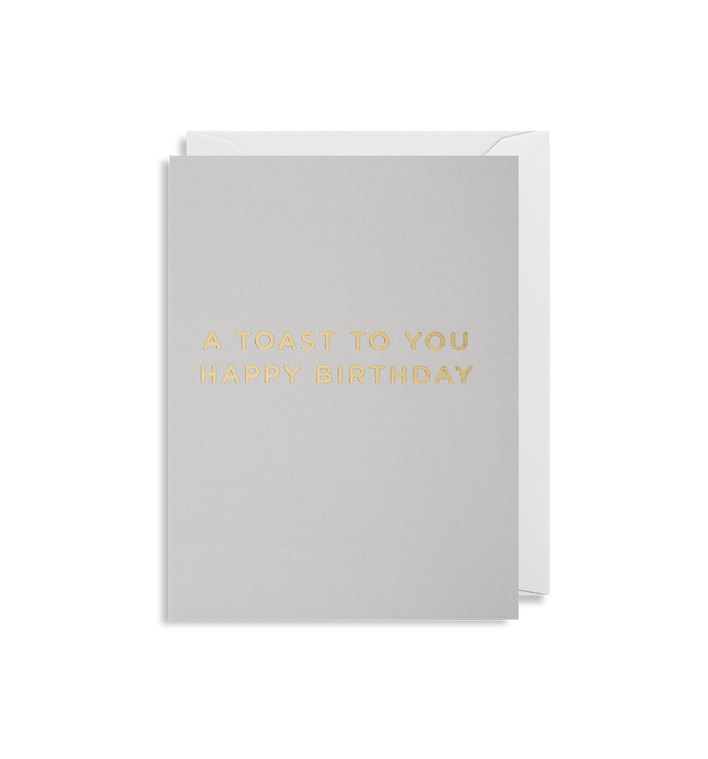 A Toast To You Happy Birthday - Lagom Design
