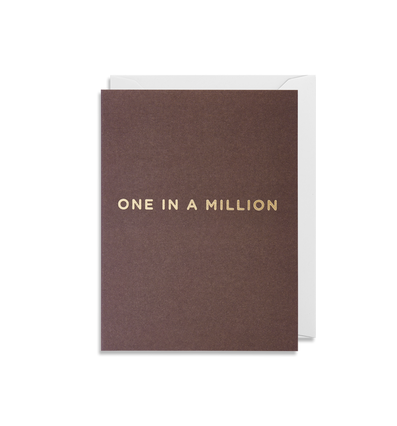One In A Million Mini Card - Lagom Design