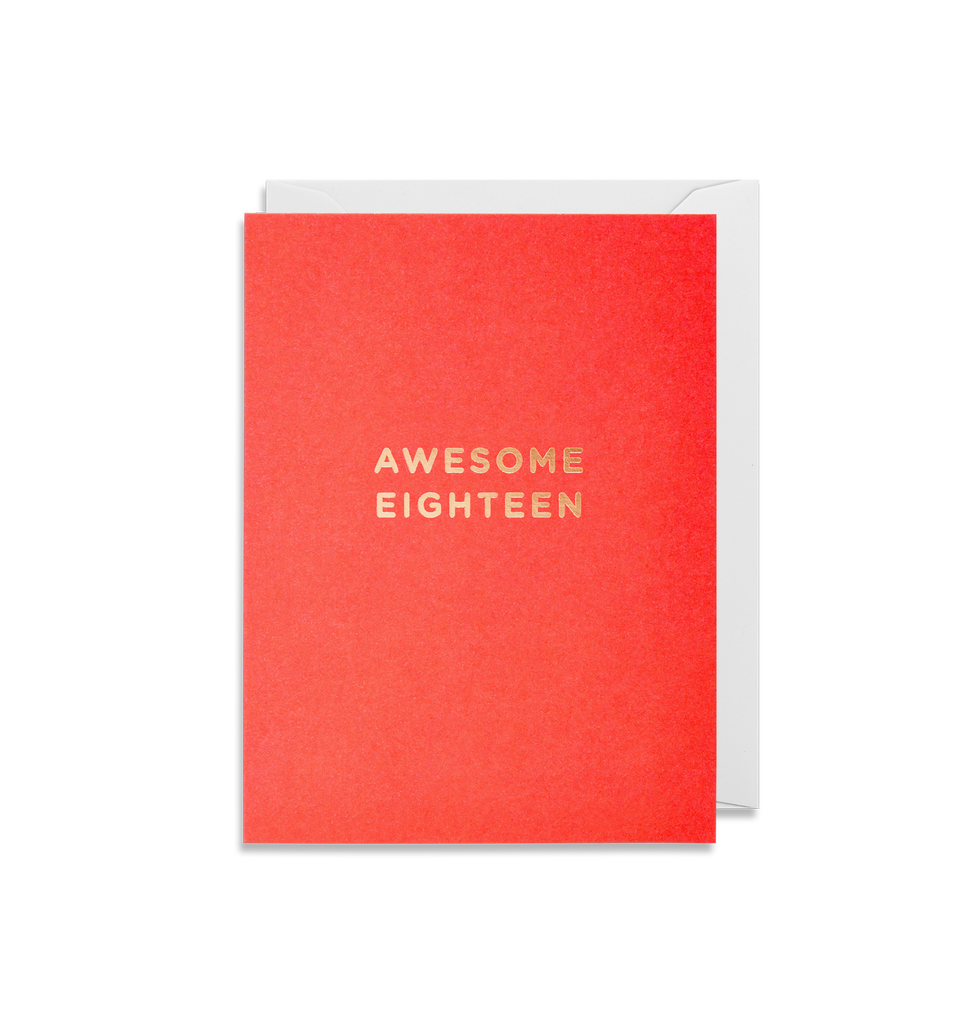 Awesome Eighteen Mini Card - Lagom Design