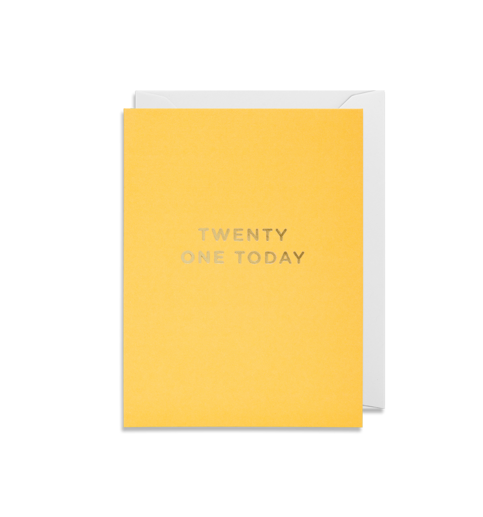 Twenty One Today Mini Card
