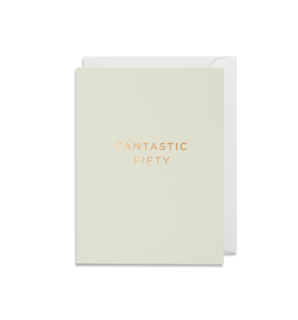 Fantastic Fifty Mini Card - Lagom Design