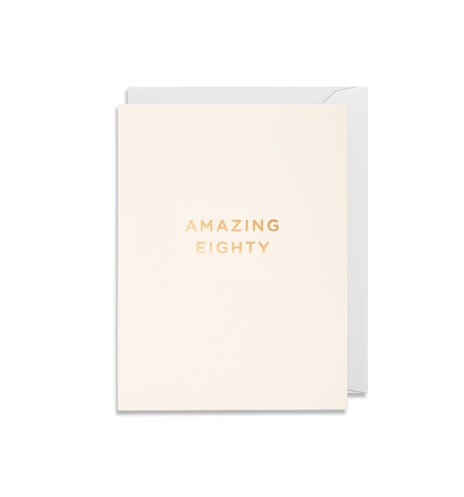 Amazing Eighty Mini Card - Lagom Design