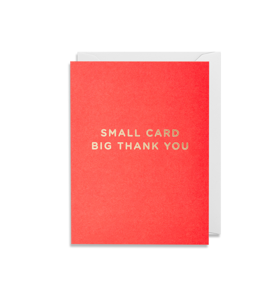 Small Card Big Thank You Mini Card