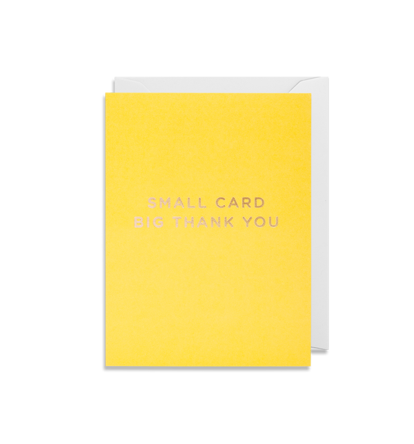 Small Card Big Thank You - Lagom Design