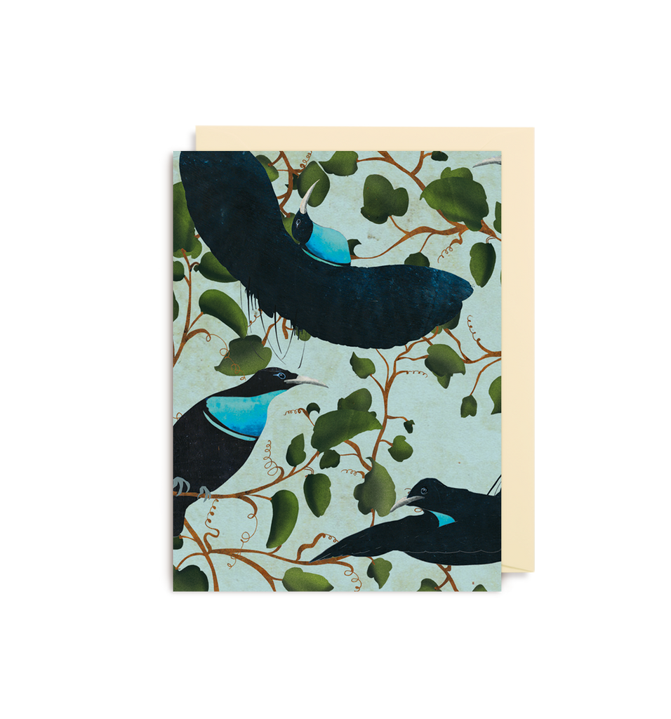 Rifle Bird Teal Mini Card