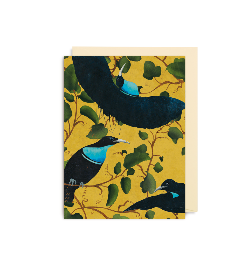 Rifle Bird Yellow Mini Card