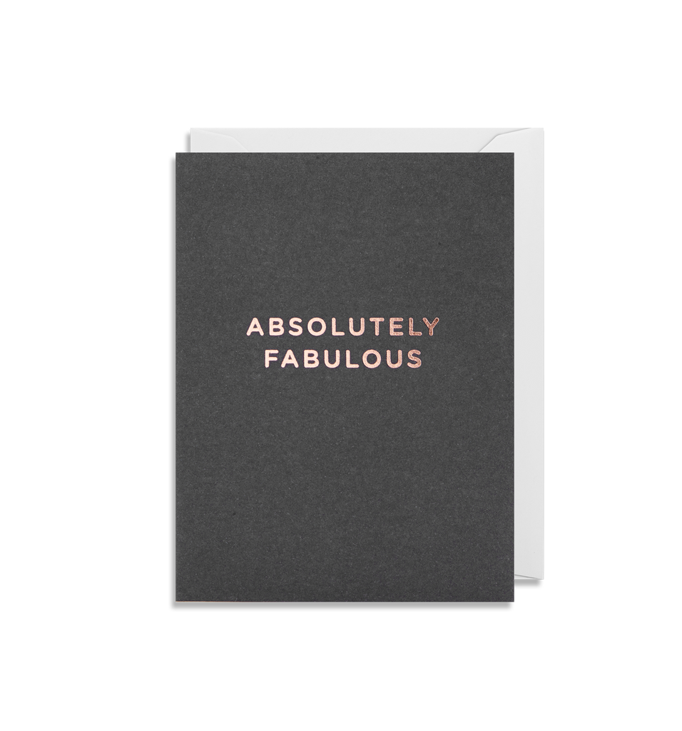 Absolutely Fabulous Mini Card