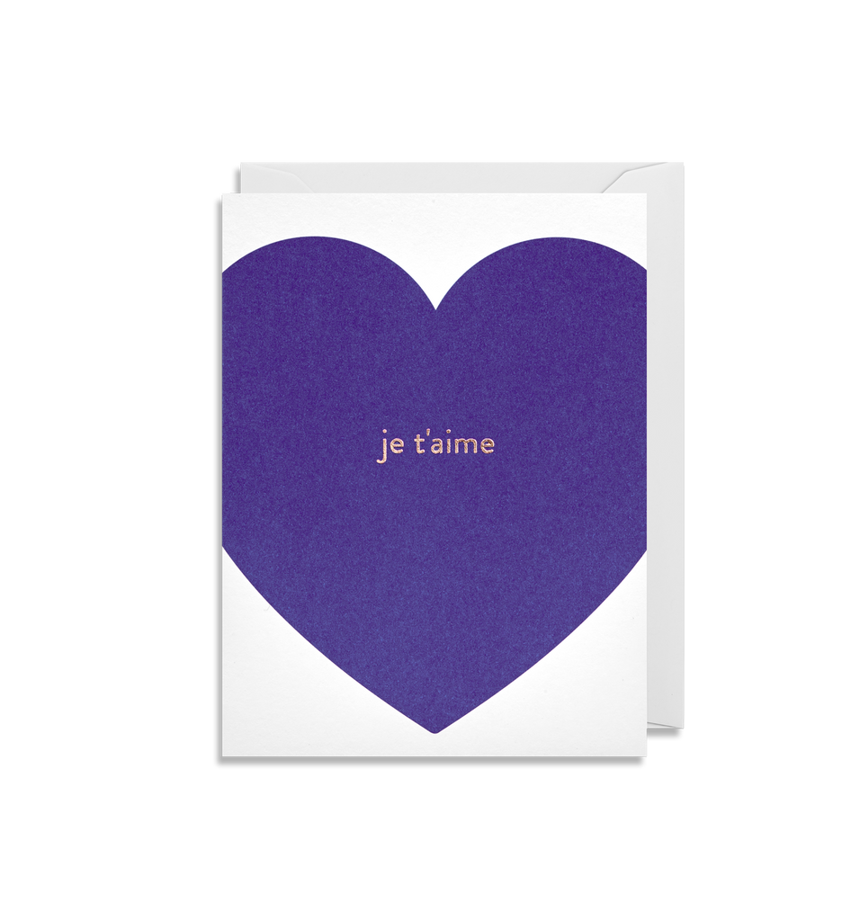 Je t'aime Mini Card
