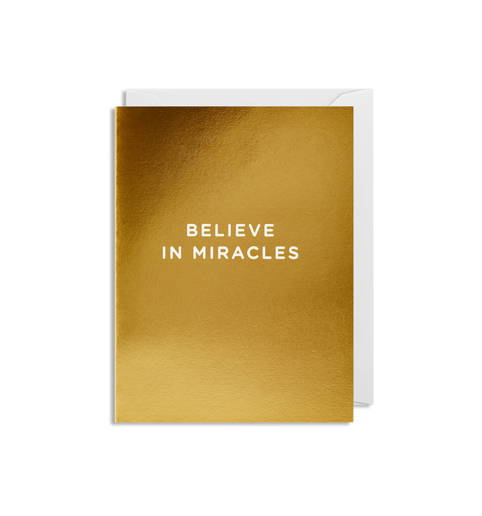 Believe in Miracles Mini Card - Lagom Design
