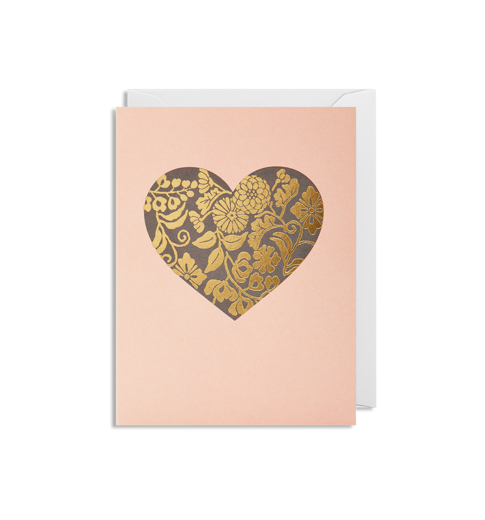 Floral Heart Mini Card