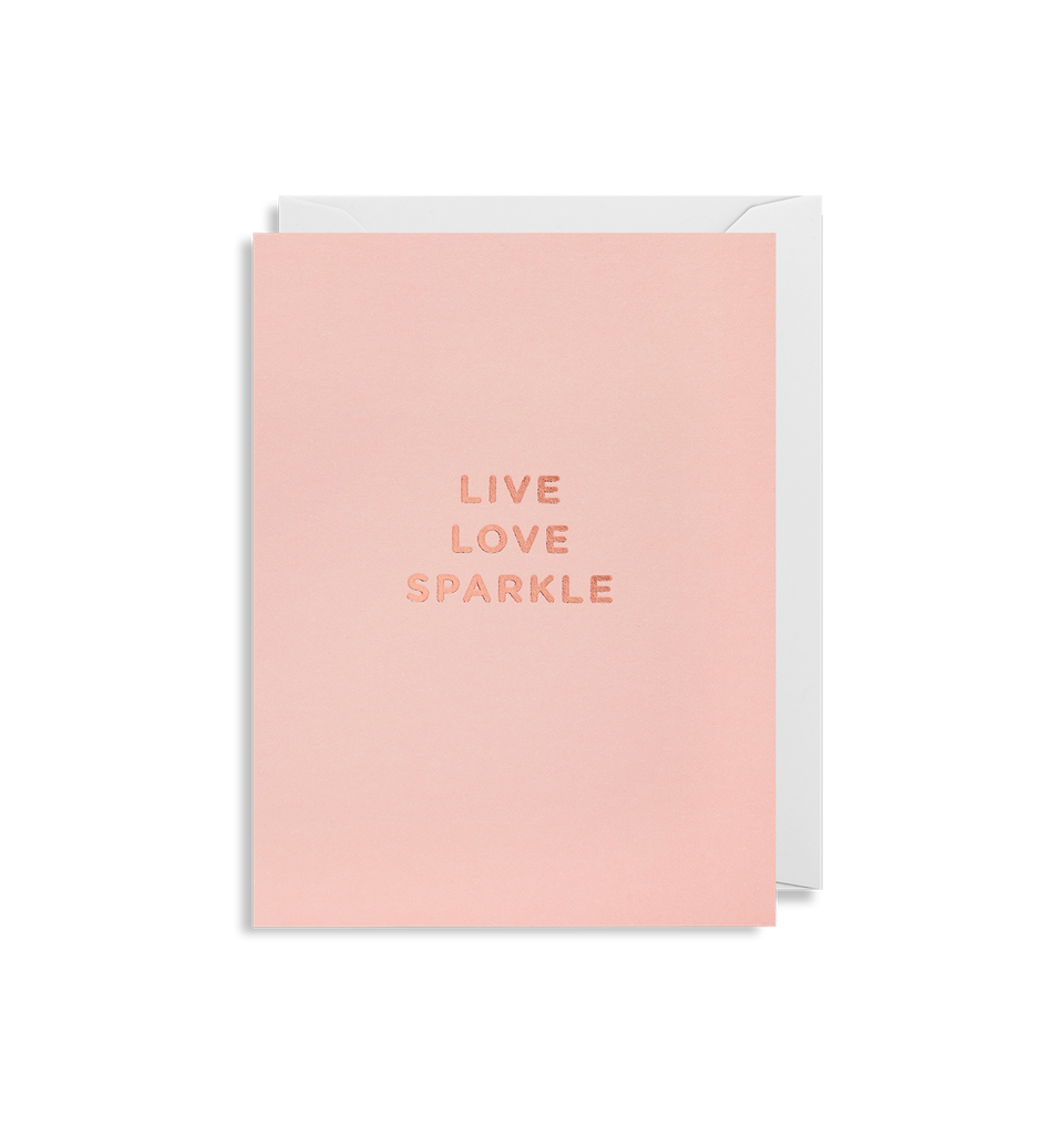 Live Love Sparkle Mini Card - Lagom Design