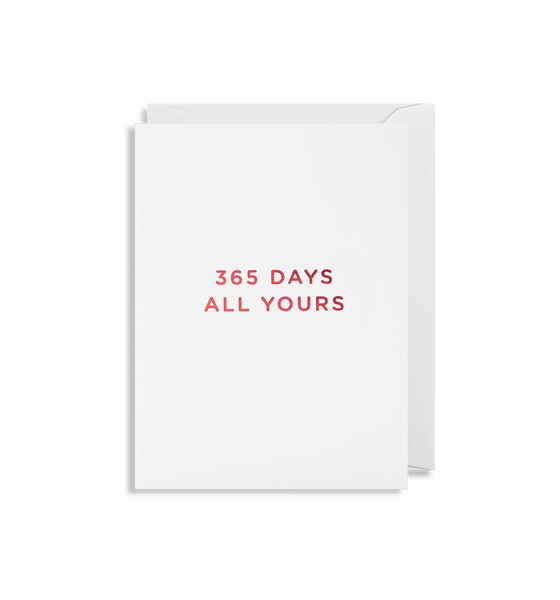 365 Days All Yours Mini Card
