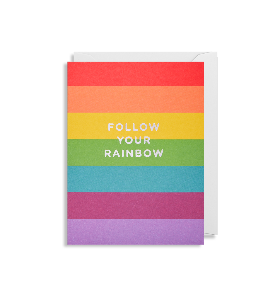 Follow Your Rainbow Mini Card - Lagom Design