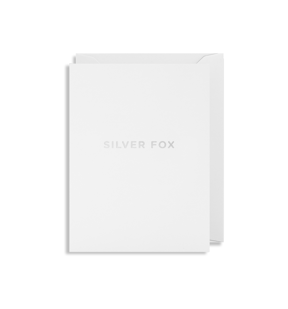 Silver Fox Mini Card