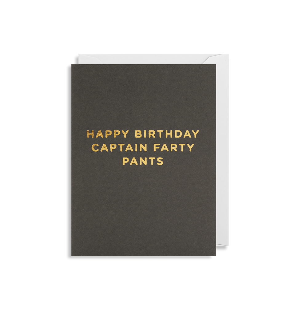 Captain Farty Pants Mini Card - Lagom Design