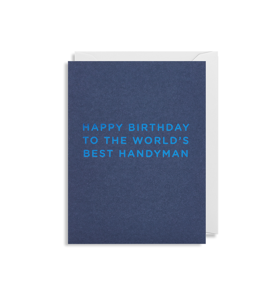 Worlds Best Handyman Mini Card - Lagom Design
