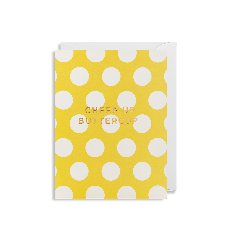 Cheer Up Buttercup Mini Card - Lagom Design