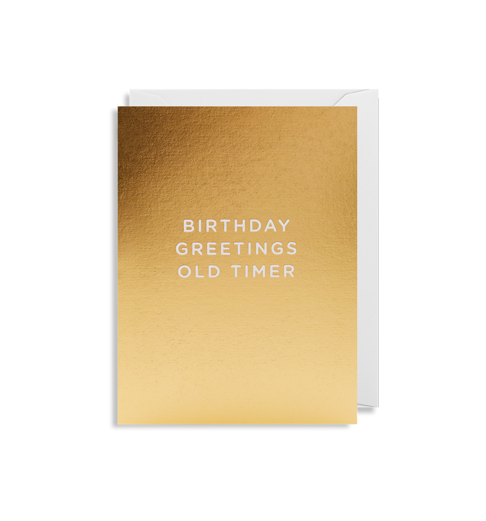 Birthday Greetings Old Timer Mini Card - Lagom Design
