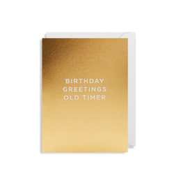 Birthday Greetings Old Timer - Lagom Design