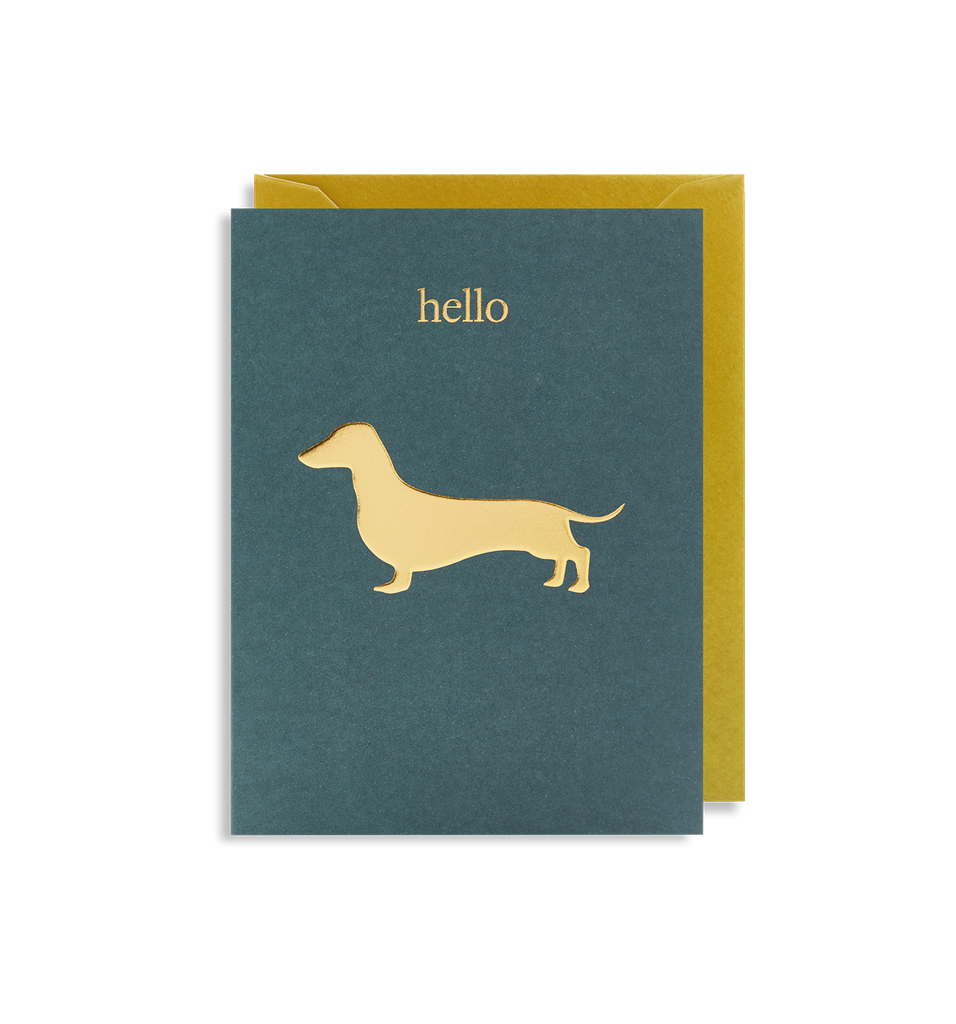 Hello Sausage Mini Card - Lagom Design