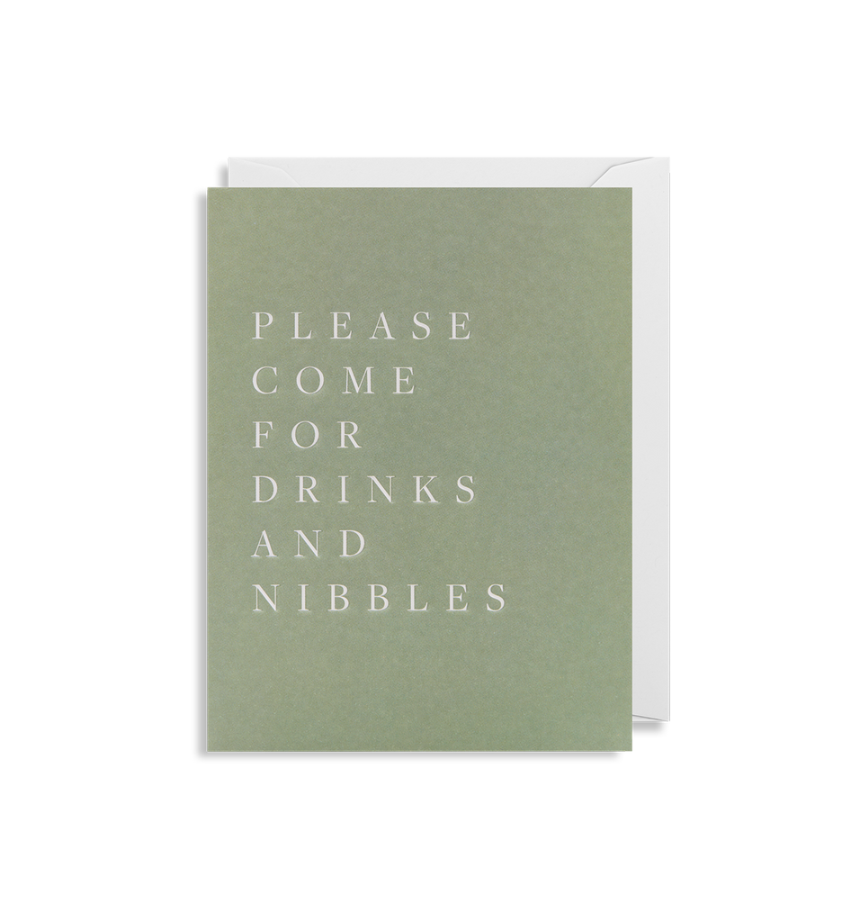 Please Come For Drinks and Nibbles Mini Card