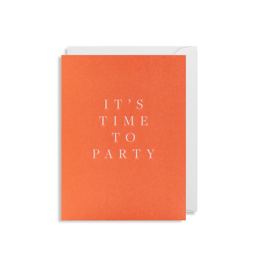 It's Time To Party Mini Card - Lagom Design