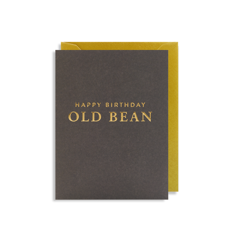 Happy Birthday Old Bean Mini Card - Lagom Design