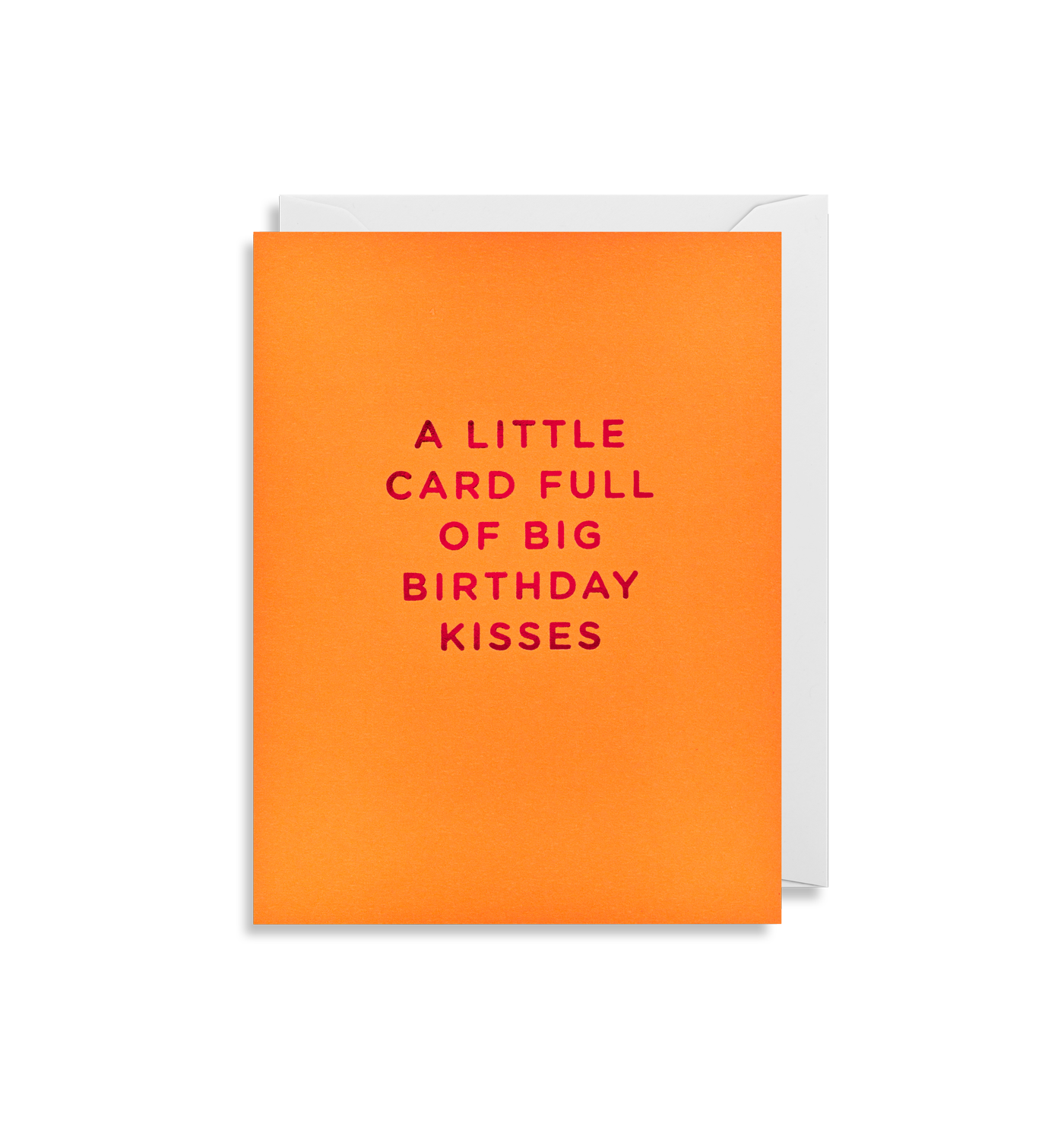 A Little Card Full of Big Birthday Kisses - Lagom Design