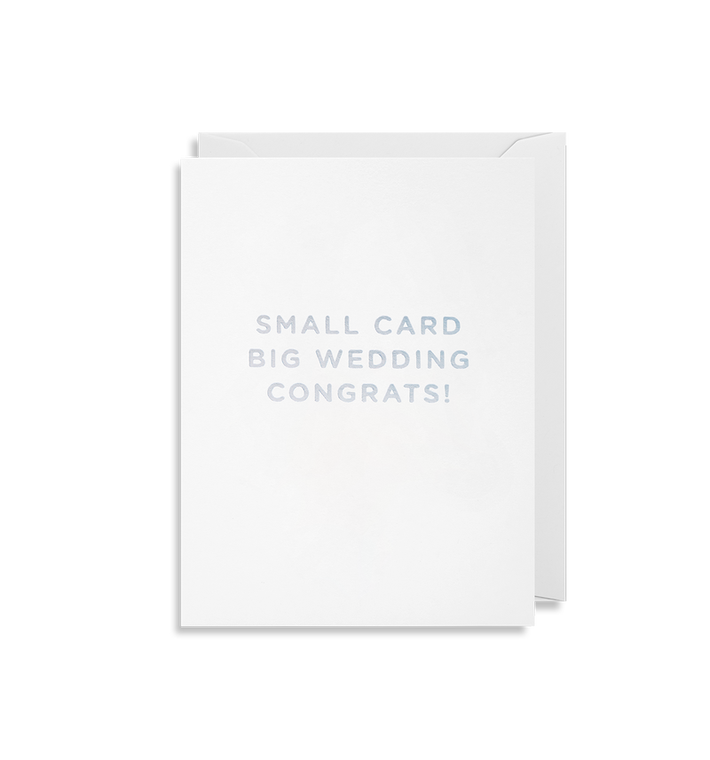 Small Card Big Wedding - Lagom Design