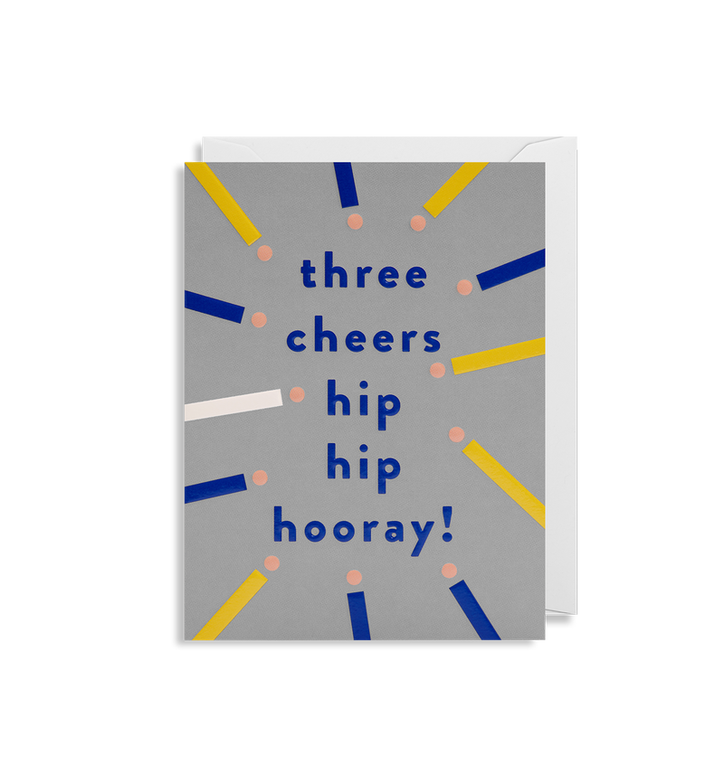 Three Cheers Hip Hip Hooray! - Lagom Design